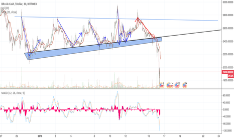 BCHUSD: Cryptocurrency mass consolidation reached peak or trend change?