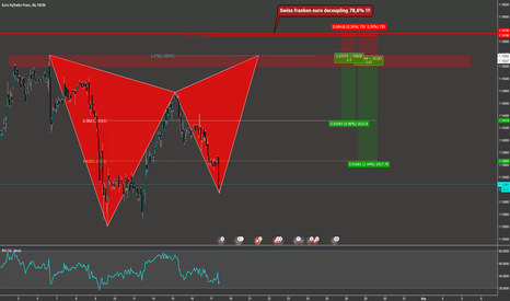 EURCHF: EUR/CHF TOP Riskreward Gartley - Swiss franken euro decoupling