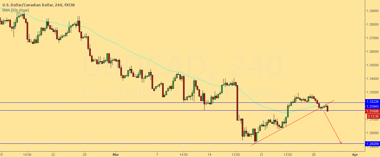 USDCAD END OF PULLBACK!