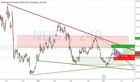 NUGT: Fewer non farmers may mean greater Gold prices near term.
