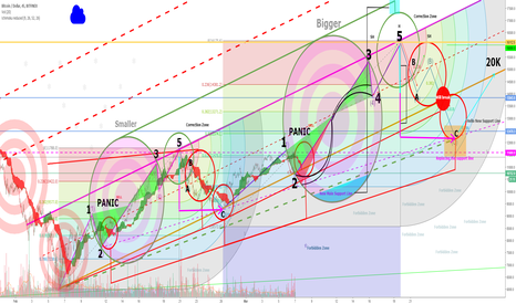 BTCUSD: Bitcoin In Cycles PANIC SELL ZONE - Repeat History !