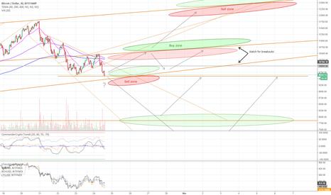 BTCUSD: Feb 24 - Bitcoin resistance levels & buy/sell zones (short term)