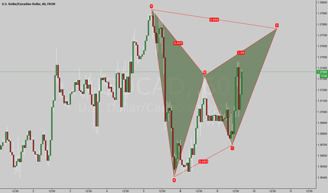USDCAD: Lets see if the possible Bat can complete