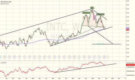 INTC: INTC at critical level on Weekly