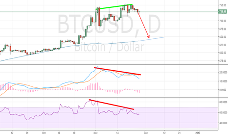 BTCUSD: Bearish divergences on daily