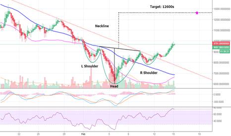 BTCUSDT: Bitcoin going up up up! 12600s projected (BTC)
