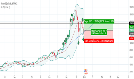 BTCUSD: BTC to test the central band and retake 16,000