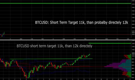 BTCUSD: BTCUSD: Shortterm target 11k, 12k should follow directely