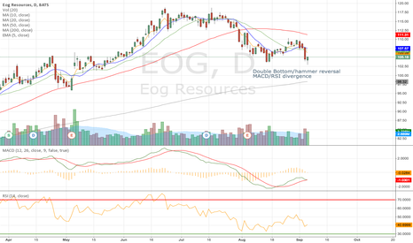 EOG: $EOG - Double Bottom - RSI/MACD Divergence