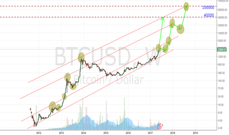 BTCUSD: The target of current bubble lays between $40k and $110k