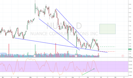 NUAN: Stochastic Divergence Continuation out of a falling wedge