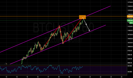 BTCUSD: Bearish abcd pattern in the channel