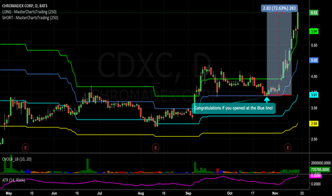 CDXC: This stock up 72% since recent alert! Congratulations if opened!