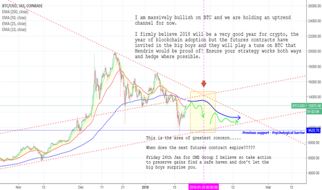 BTCUSD: BTC - Short hop to the end of Jan