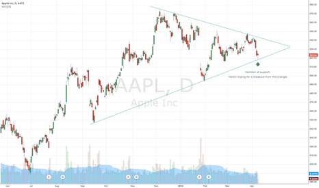 AAPL: Is AAPL preparing to breakout of this triangle?