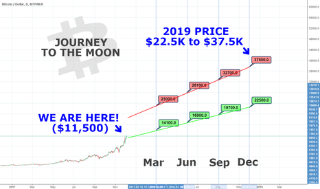 BTCUSD: Bitcoin price next 12 month... AKA Journey  to THE MOON!