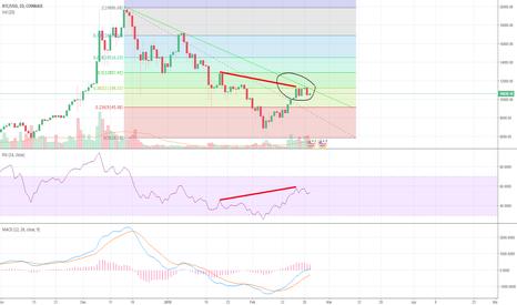 BTCUSD: Bitcoin Bull Trap Unfolding - Hidden Bearish Divergence on Daily