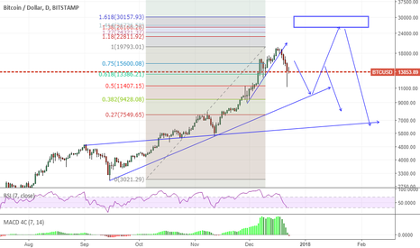 BTCUSD: bearish  -  over 8000  lost  so far...more to come..