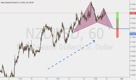 NZDUSD: TCT Trade with Potential Gartley Pattern Trigger