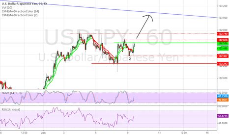 USDJPY: 1H Elliot Wave may send price to 103.100