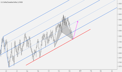 USDCAD: USDCAD Bullish Cypher Completion at Slide Parallel