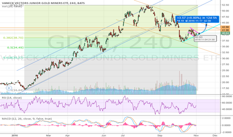 GDXJ: Gold Miners - Mid to long term setup