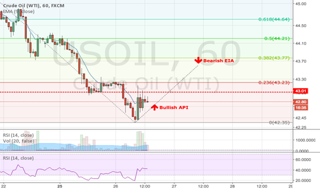 USOIL: 2016.07.26 Bullish Call on API and Bearish Call on EIA