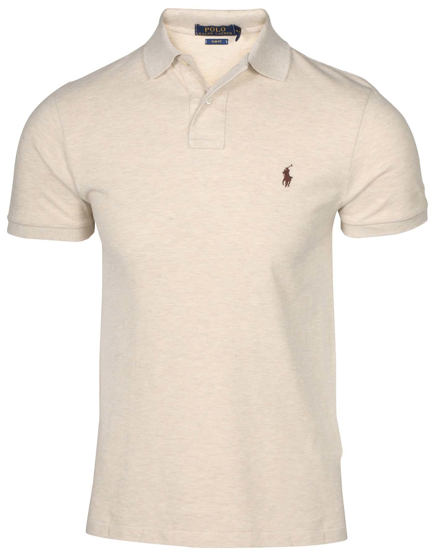 f61104a67e6ac ... get polo ralph lauren hombre slim fit mesh pony shirt dune tan medium  comprar en ecuador