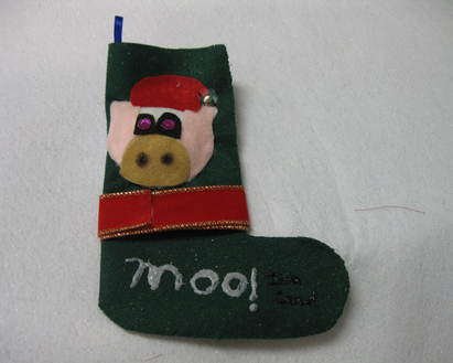 Holiday stocking and ornament magic