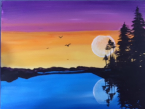 'Sunset Lake' Paint & Sip