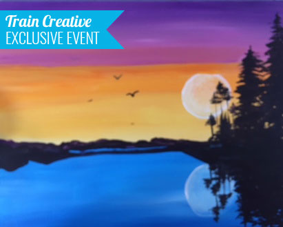 'Sunset Lake' Paint & Sip