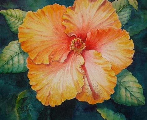 Hibiscus Watercolor Mini Workshop