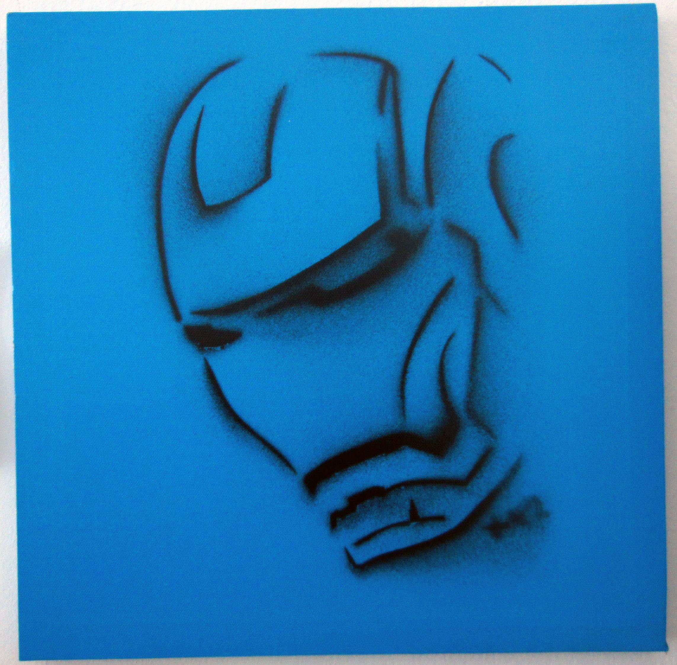 Croissant Iron man Pochoir (Stencil) by URBN 1311 | Trampt Library ZY-54