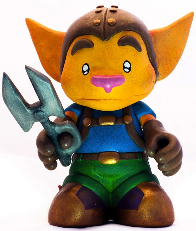 Ratchet Clank Kidrobot Mascot By Bashprojects Trampt Library