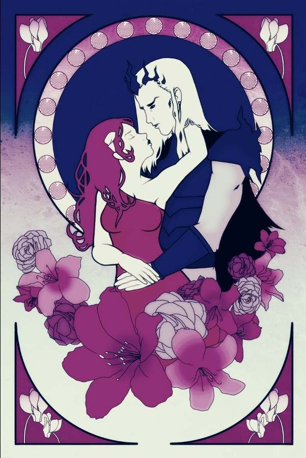 Hades And Persephone Giclee Art Print By Indy L