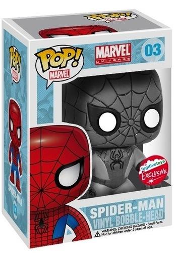 Spider Man Mono Variant Pop Vinyl By Dc Comics