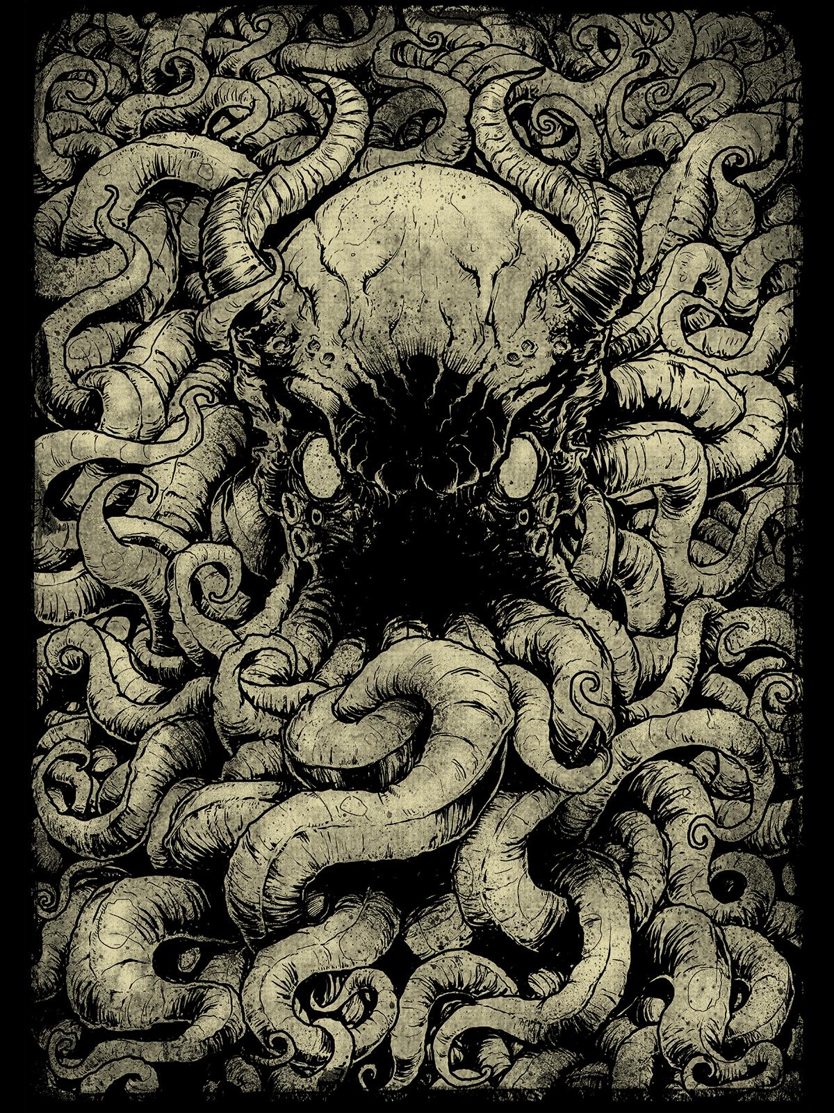 Kraken Screenprint By Godmachine Trampt Library