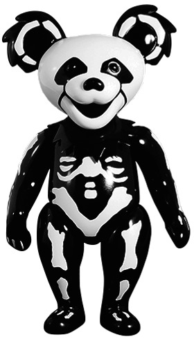 Grateful Dead Bear Natural Bone Black Grateful D Trampt Library
