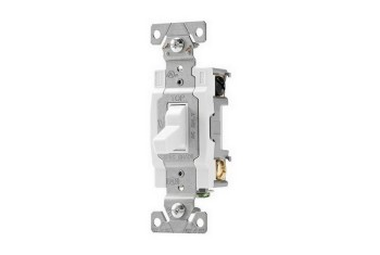 INTERRUPTEUR DOUBLE POLE 15A 120/277V BLANC