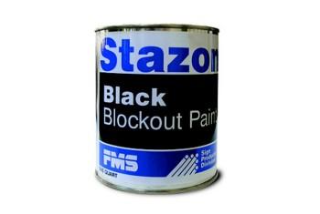 STAZON BLOCKOUT PAINT-BLACK QUART