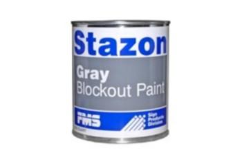 STAZON BLOCKOUT PAINT-WHITE QUART
