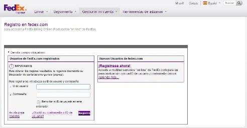 Facturación Fedex