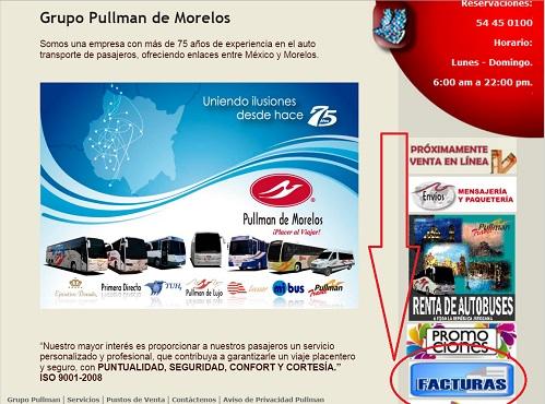 Pullman de Morelos facturación 1