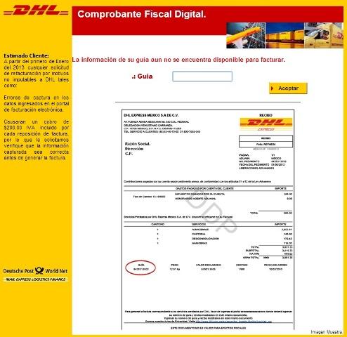 DHL facturación