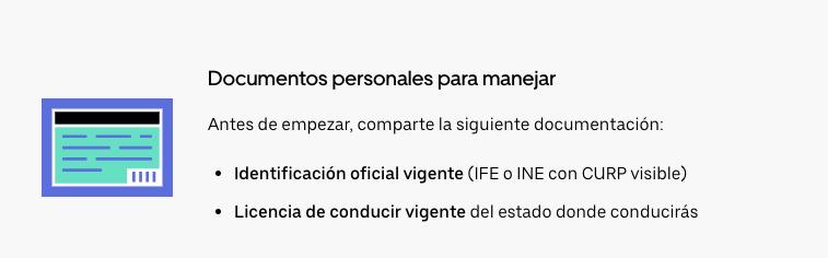 requisitos Uber