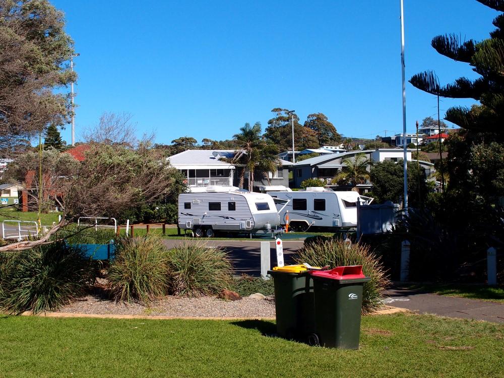 Kendalls Beach holiday park bring your own caravan
