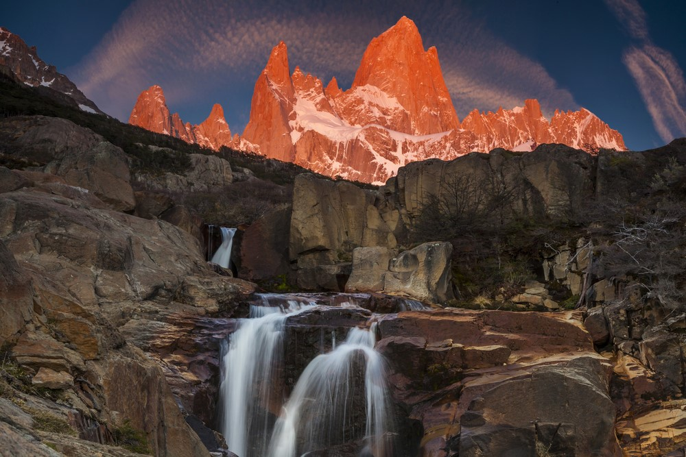 Waterfall Monte Fitz Roy Argentina