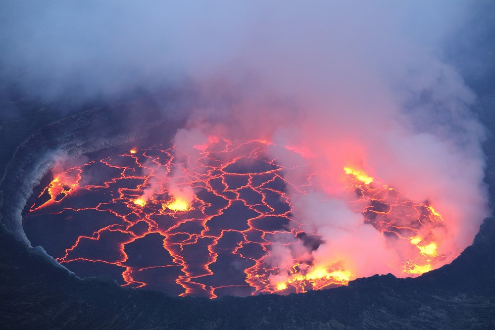Mind-blowing volcanoes Mt. Nyiragongo, Democratic Republic of Congo
