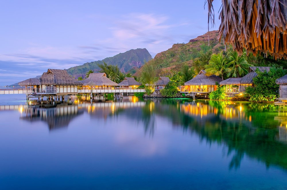 Most romantic places The bungalows in French Polynesia