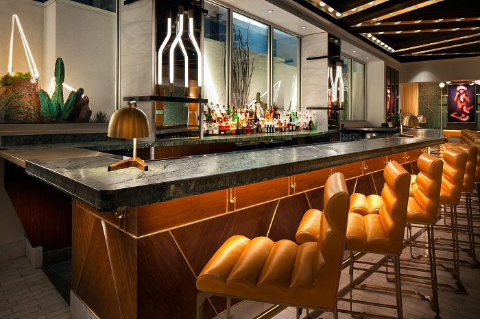 W Las Vegas Opened Its Doors in Sin City in December 2016 Living Room Bar Detail